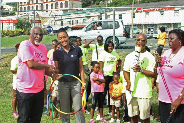 Mr Royston LaHee, President of the Grenada Olympic Committee Receives Support