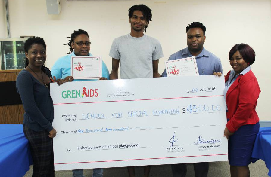 GrenAIDS presents funds to schools for special education