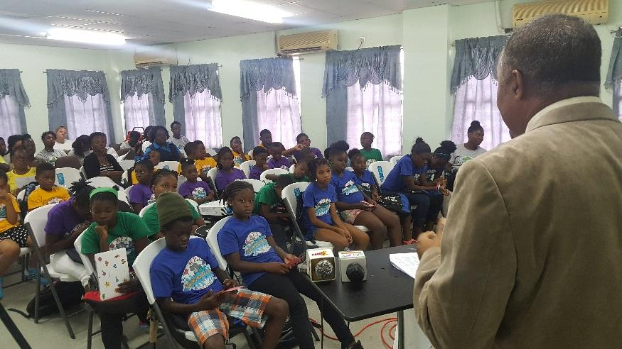 Hon. Alvin Dabreo addressing the MPA Summer Campers