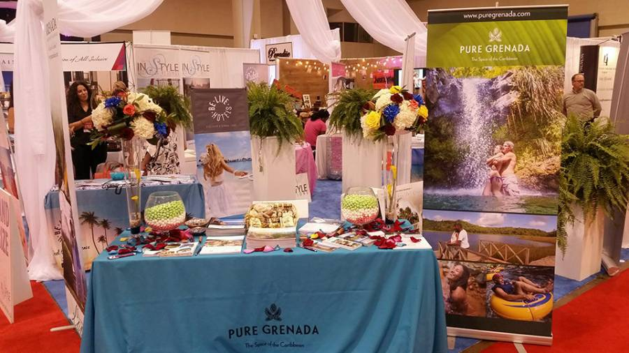 Grenada booth at Canada's Bridal show