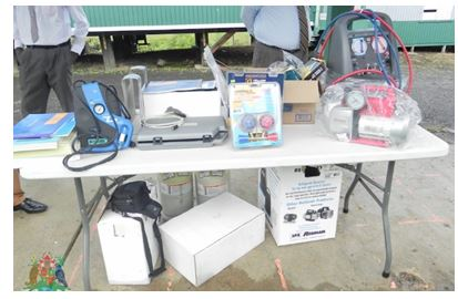 Equipments donated by the NOU