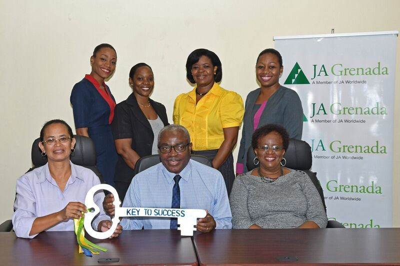 Members of the Grenlec Team with JA Board Members