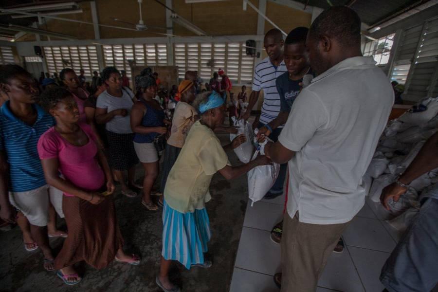 Relief aid in Haiti