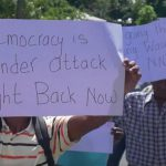 NDC Protests for 'Democracy'